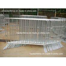 6ft X 4ft Barrières de contrôle de foules galvanisées à chaud avec pieds fixes