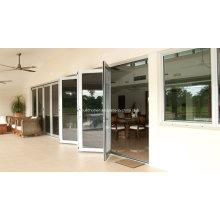 Энергосберегающие алюминиевые двери с двойным стеклом E