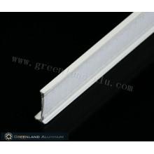Vorhangschienenprofil aus Aluminium mit Klettverschluss
