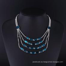 Conjunto de collar de joyas de fantasía de diamantes de imitación de aleación de zinc clásico 2016