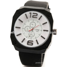New arrival men's hot silicone rubber wristband watch