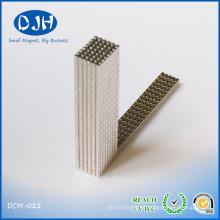 Cylinder Permanent Magnet Nickel Copper Nickel Coating