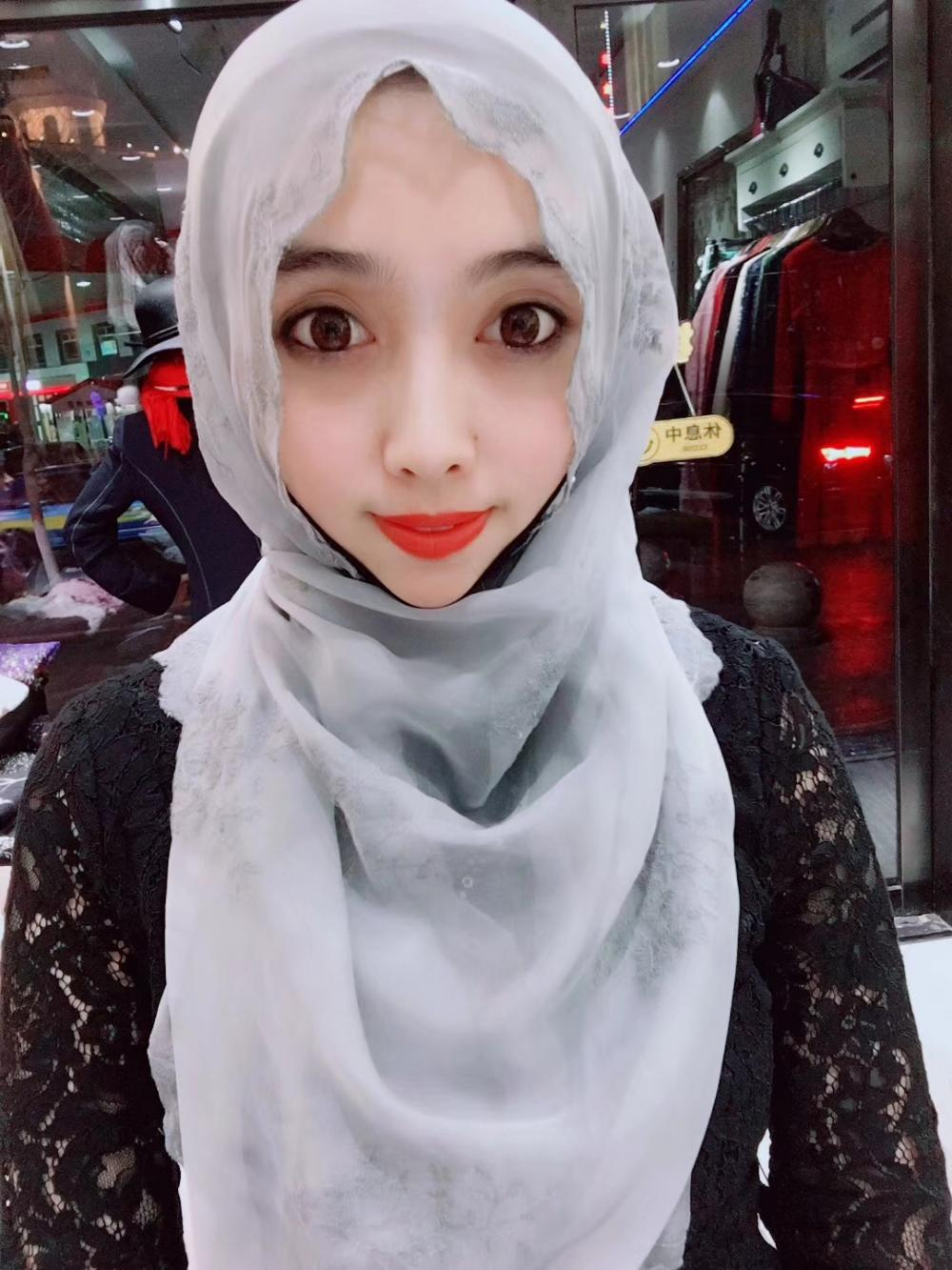 Muslim Long White Hijab