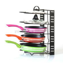 Venta al por mayor de la cocina creativa wok stand Pan estante estante estante de productos básicos