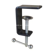 C-Klemme mit schwarzer Pulverbeschichtung für Schreibtisch-Trennwand
