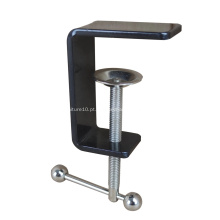 Braçadeira C da divisória de mesa de escritório com revestimento a pó preto