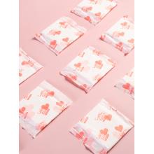 Hot air non-woven fabric surface sanitary pad