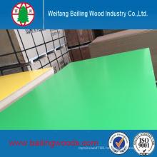 Green Color Melamine MDF 18mm