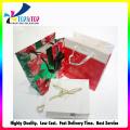 OEM diseño con la manija de la cuerda bolsa de papel plegable de vino