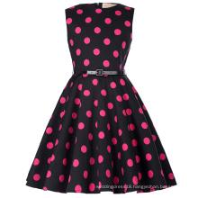 Kate Kasin Kids 'Audrey' Vintage Divinity 50s Dress Vintage Retro Cotton Floral Pattern Vintage Little Girls Dress KK000250-17