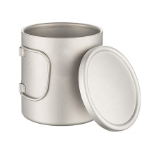 Coffee Mug Titanium Double Wall Cup with Lid