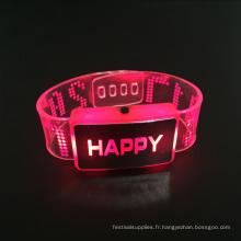 Nouvel An 2017 Happy Led Bracelet Faveurs De Mariage