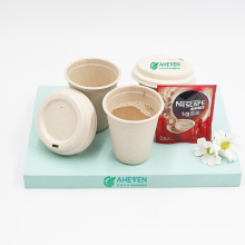 Wholesale Eco Friendly Food Grade Biodegradable Sugarcane Bagasse Coffee Travel Mug Cups With Lid