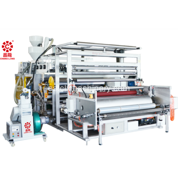 Coextrusión de plástico Stretch Cling Film Equipment