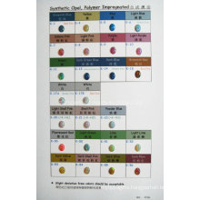 Synthetic Opal Polymer Impregnated Color Chart