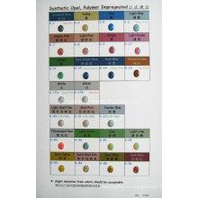 Цветовая карта, пропитанная синтетическим опаловым полимером