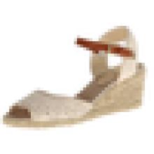 Sapatas superiores do salto alto da sandália da parte superior do laço da sapata da mulher do projeto 2015