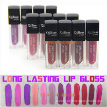 Maquillage populaire Qibest Lip Gloss Matte Lasting Liquid Lipstick Waterproof Not Stick Cup Not Fade