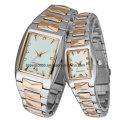 Relógios de pulso feitos sob encomenda do metal para homens e senhoras