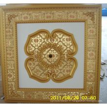 Plafond artistique décoratif en bourgogne et doré Bracade Dl-1114-12