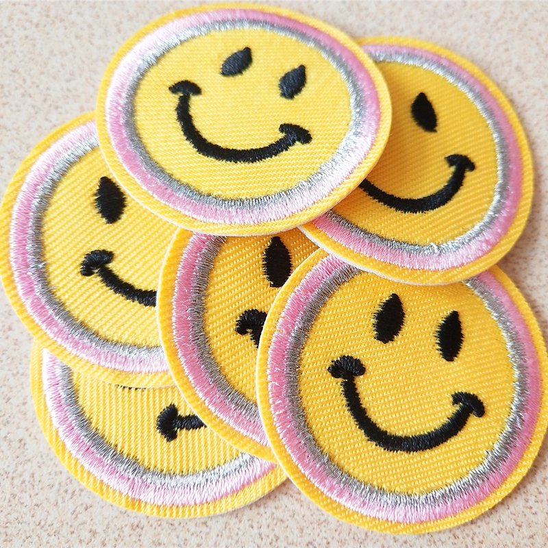 Yellow Smile Face Embroidery