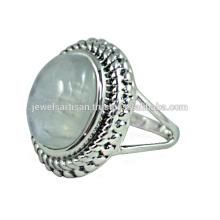 Rainbow Moonstone Gemstone 925 Sterling Silver Ring Jewelry