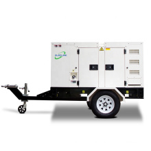 60Hz 20kva 16kw AC Single Phase Mobile Silent Trailer Diesel Generator Set Powered By Yangdong Engine YND485D