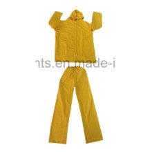 PVC / Polyester PVC wasserdichte Outdoor Workwear Bekleidung Regenmantel Rainsuit (RWB03)