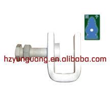 braçadeira de cabo de descida para poste / dispositivo de fixação de cabos de queda / braçadeira braçadeiras de linha de energia para poste telescópico braçadeira de linha de apoio