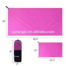 toalha de viagem leve de microfibra