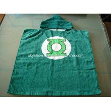 100% Cotton Green Lantern Poncho Towel / Baby Robe