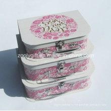 Пользовательские высокого качества фантазии картона бумажник чемодан / оптовая бумага чемодан коробка для упаковки подарков