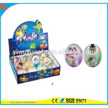Novelty Design Kid's Toy 65mm Glitter LED Flashing Owl Light-up Hi Bouncing Ball