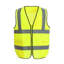 Chaleco reflectante de seguridad con bolsillos funcionales personalizables