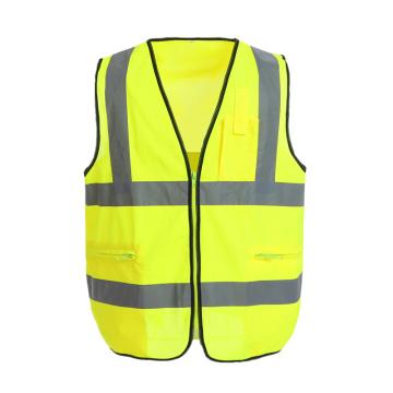 Colete reflexivo de segurança com bolsos funcionais personalizáveis