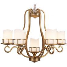 Железная люстра, металлическое освещение, античная латунная отделка, стеклоткани (SL2242-6 + 1)