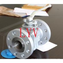 Сделано в Китае полнопроходной Фланцевый 3шт фиксированный шаровой Клапан