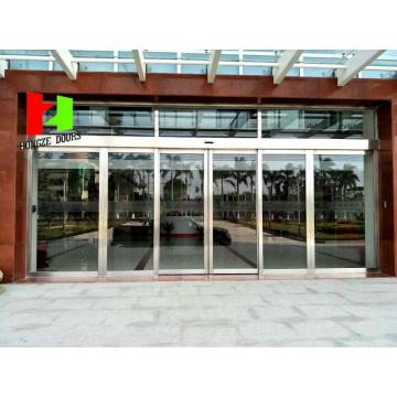Aluminium Alloy Entrance Tempered Glass Sliding Door