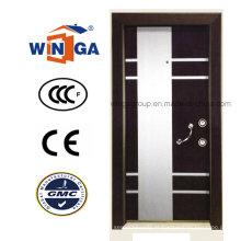 Porta blindada de madeira de aço inoxidável MDF de Villa Buidling para Turquia (W-T02)
