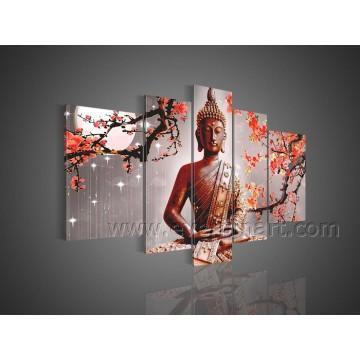 Handgemalte Buddha-Ölgemälde Abstrakte Wand-Kunst auf Leinwand
