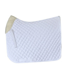 White Dressage Poly Cotton Cotton Saddle Pad