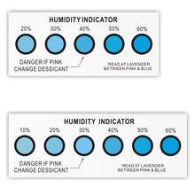 humidity tester Moisture Absorption Desiccant Co - free Humidity Indicator Card