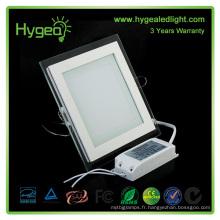 Square PF 0.95 Lampe de verre en aluminium pure / blanche / froide / froide