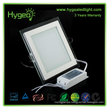 Square PF 0.95 Aluminum pure/white/cold/cool glass panel lamp