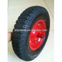 14 pulgadas 3.50-8 4.00-8 lug patrón inflable ruedas de goma, rueda neumática para carretilla
