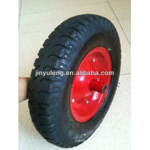 14 inches 3.50-8 4.00-8 lug pattern rubber inflatable wheels ,pneumatic wheel for wheel barrow