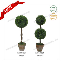 H65cm Garden Decoration Plastic Ball Tree Bonsai Plant Flower