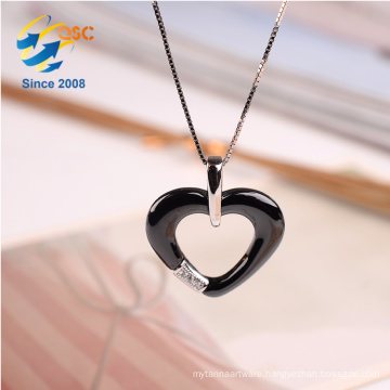 Fashion Women Jewelry Simple Design Colorful Rhinestone Pendant Necklace