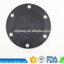 Fabric reinforced silicone rubber diaphragm