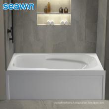 Seawin Freestanding Standalone Bathroom Clear Vertical White Shower Bathtub